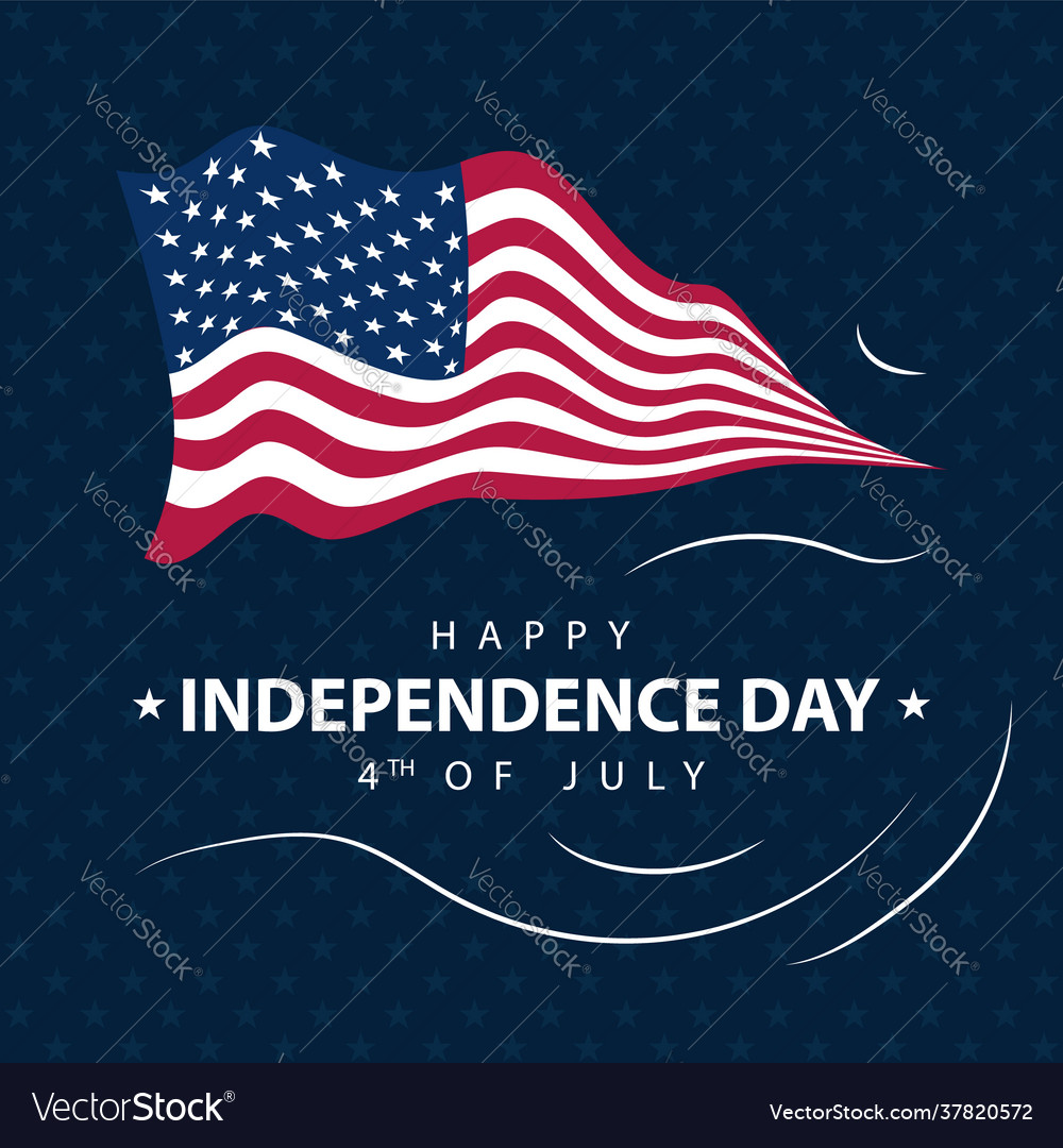 America independence day design greeting card