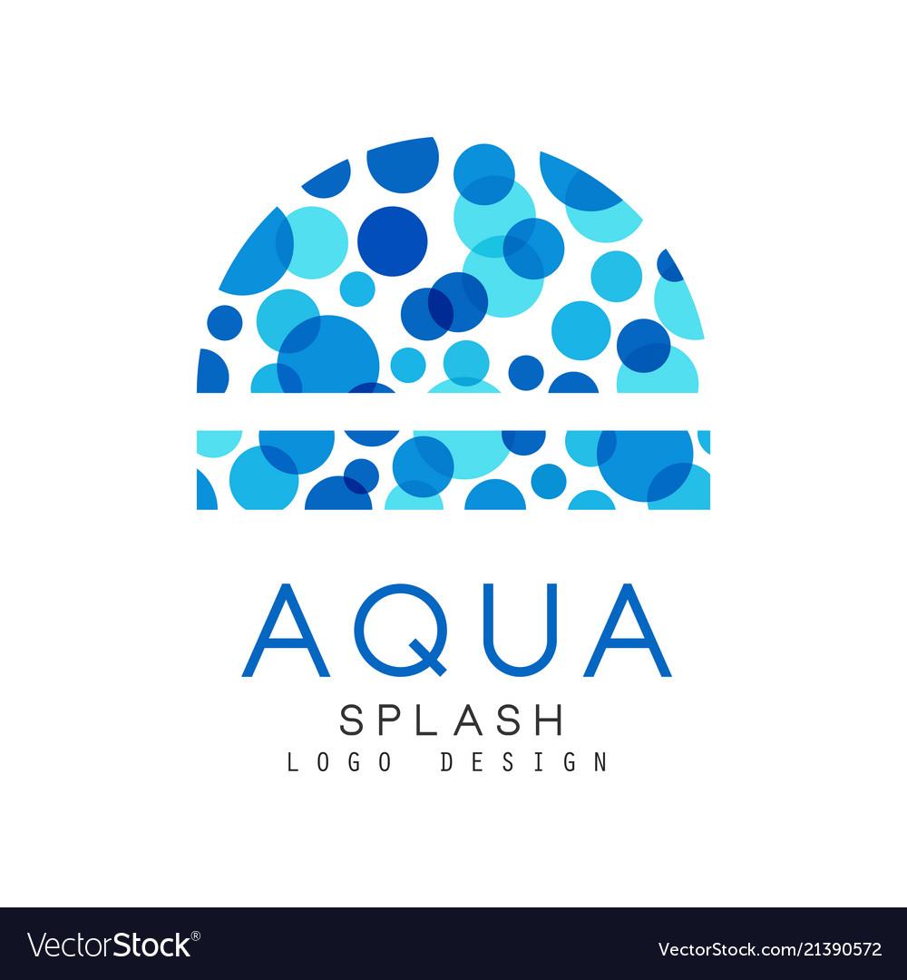 Aqua splash logo design corporate identity