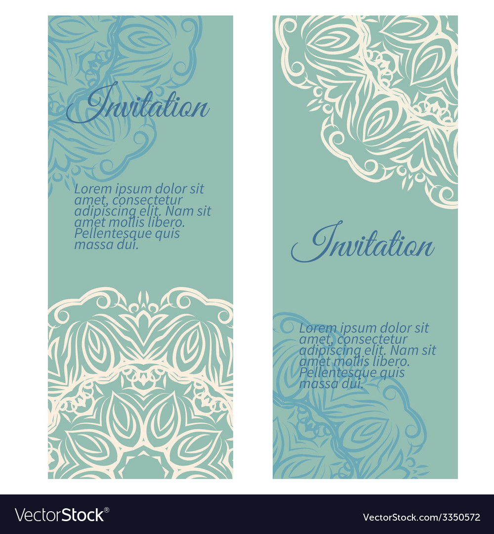 Banners invitation style retro vintage vector image