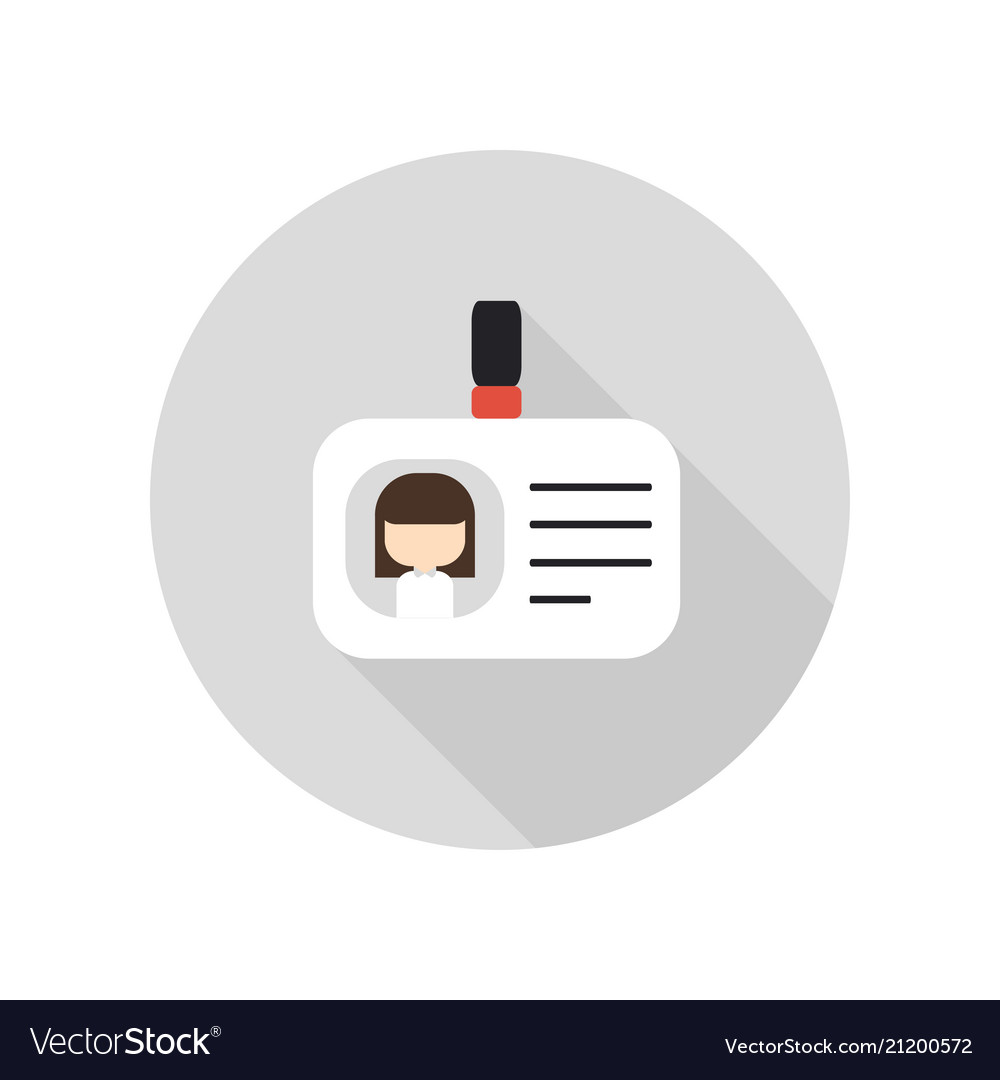 blank id cards with clasp icon id badge royalty free vector