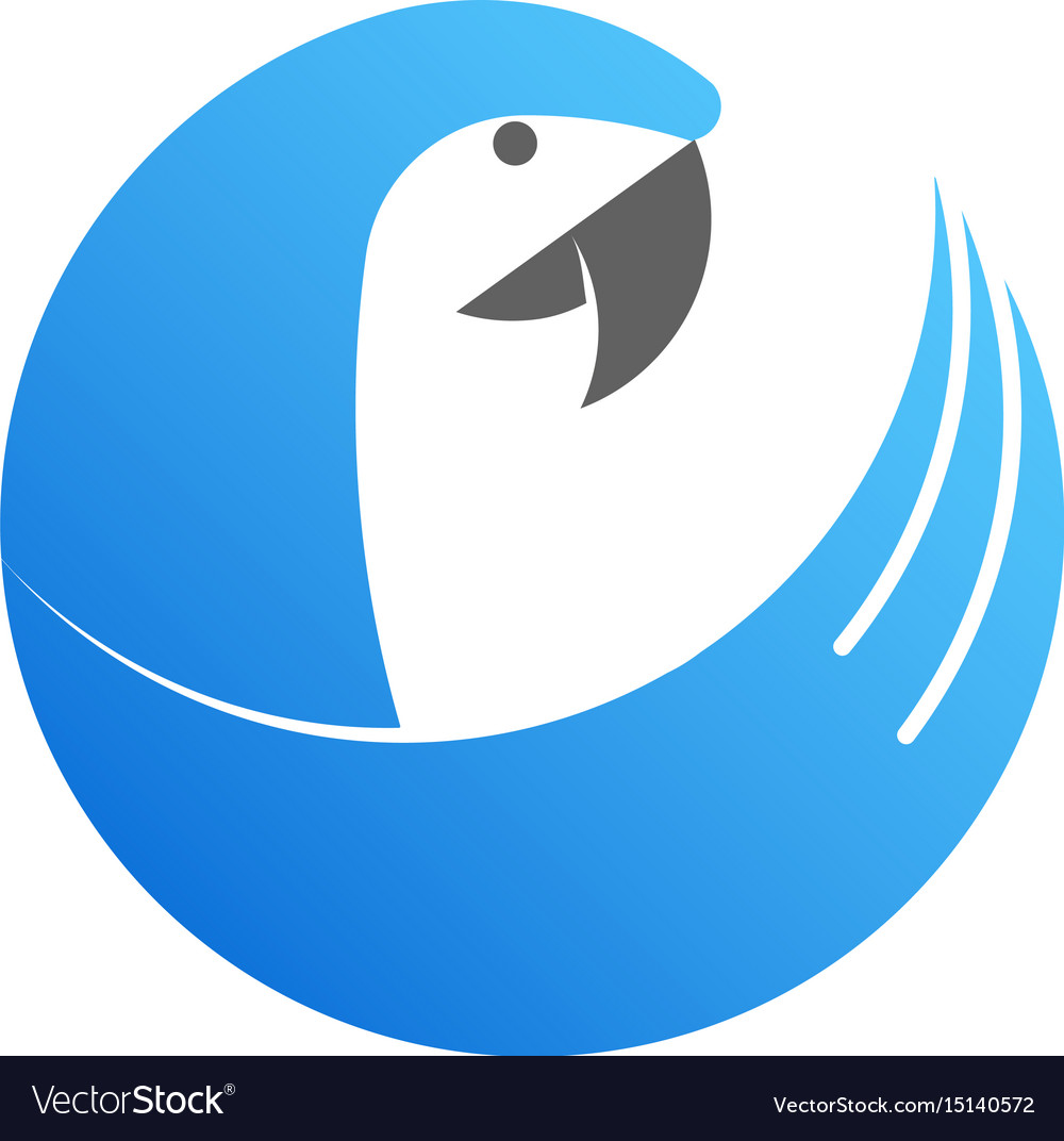 Blue cockatoo logo made from circles