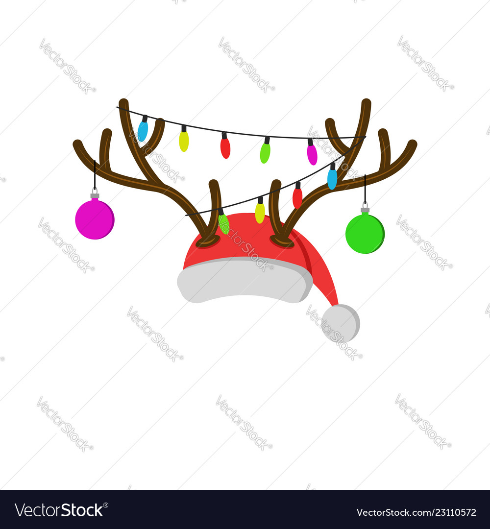 Christmas carnival mask with reindeer antlers