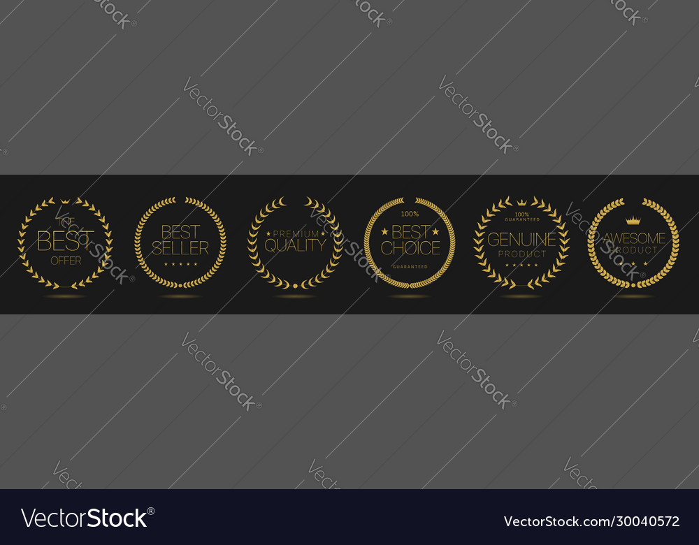 Golden wreath icons