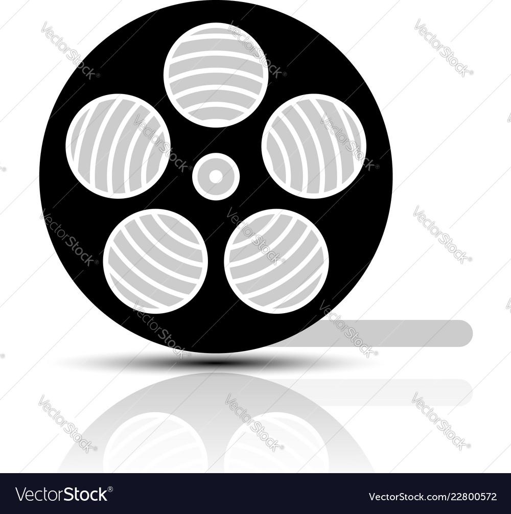 Movie Film Reel Symbol Royalty Free Vector Image