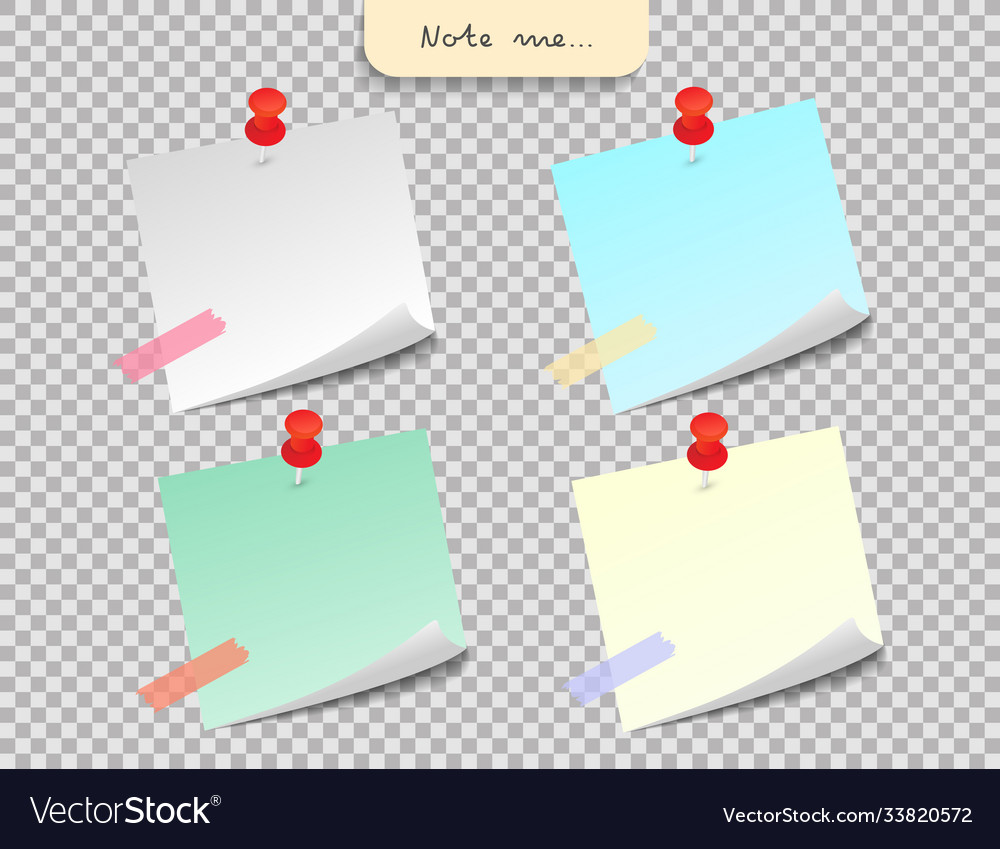 Paper note and office elements reminder object