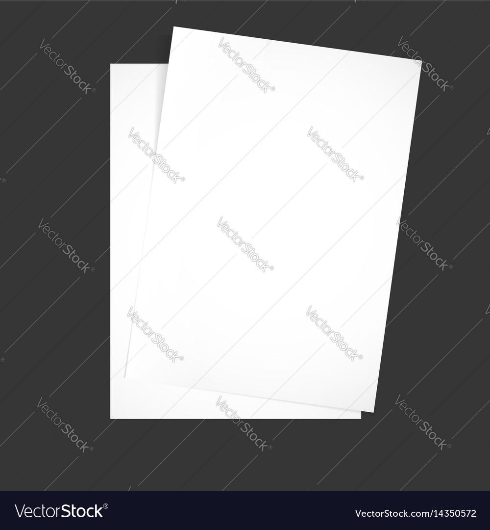 Paper on a black background mock up