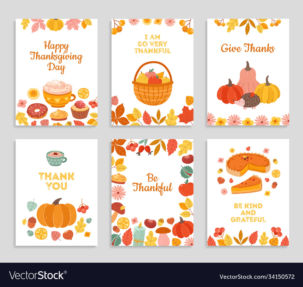 Thanksgiving day cards autumn rustic poster