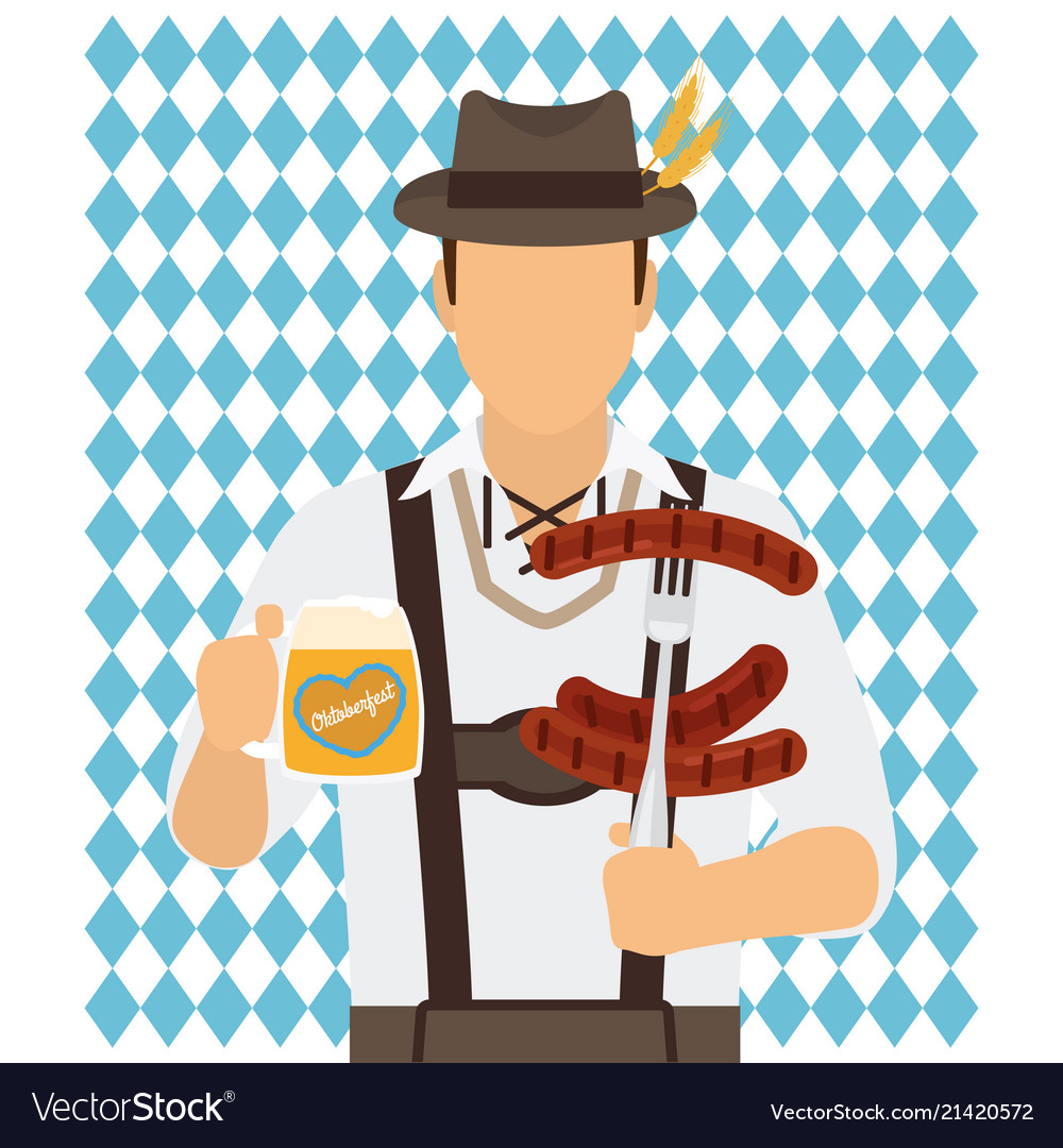 Traditional oktoberfest man icon