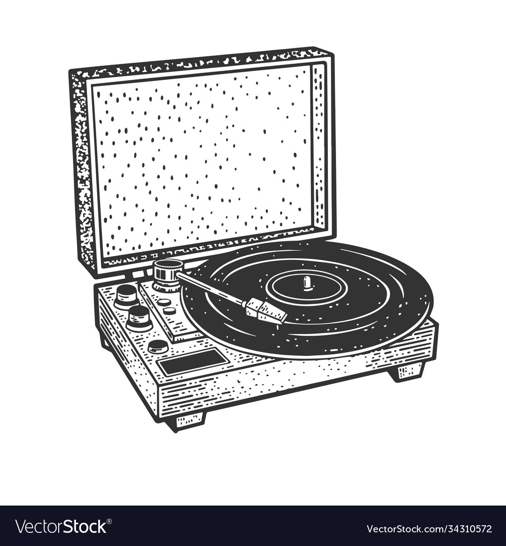 Turntable record player sketch