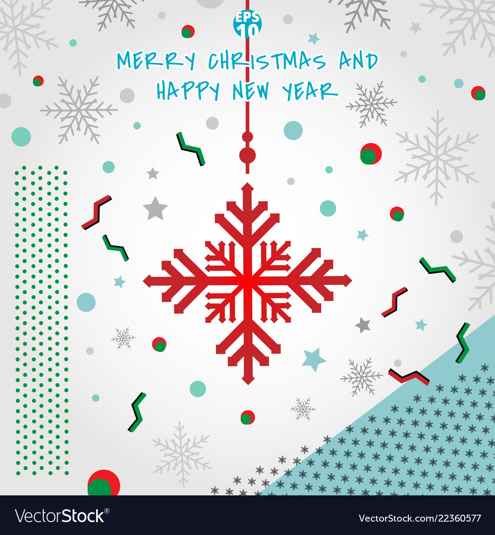 Abstract christmas elements geometric snowflakes