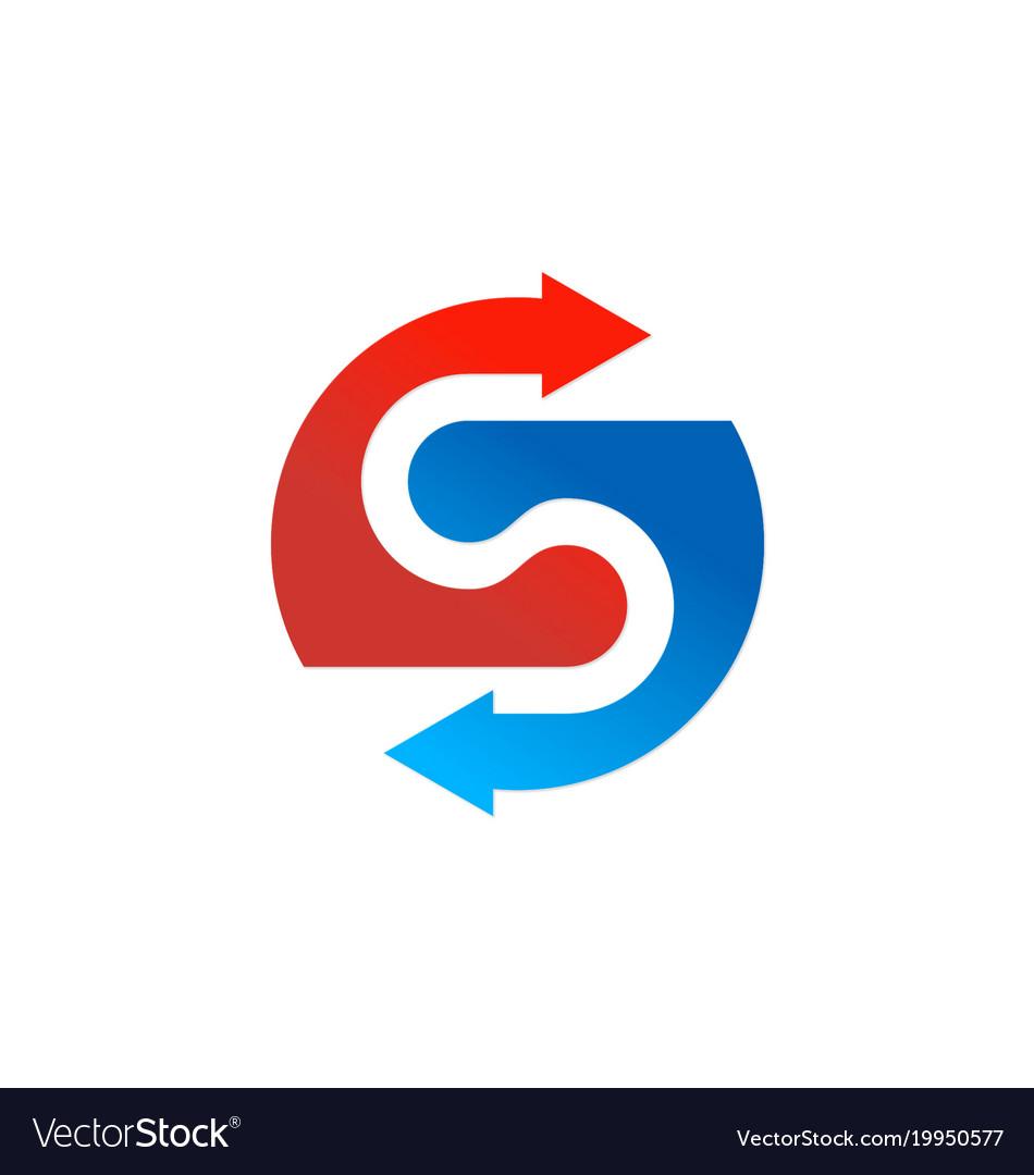 Arrow letter s company logo