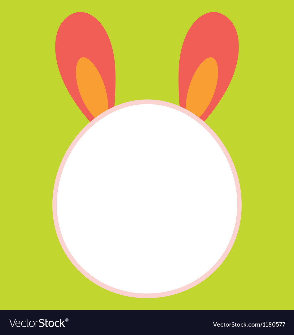 Bunny Head Template Royalty Free Vector Image - VectorStock