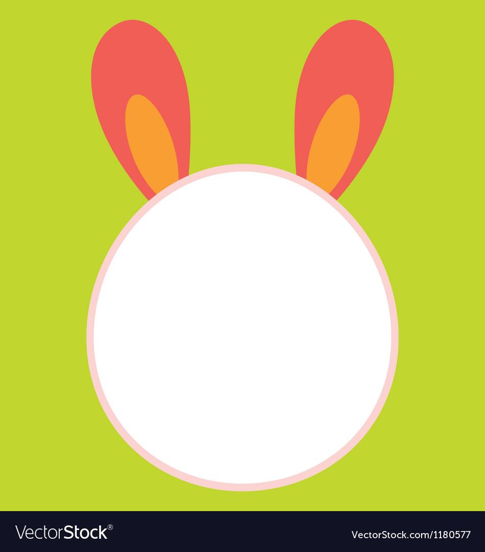 bunny head template royalty free vector image vectorstock