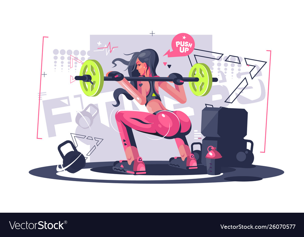 Cute fitness girl