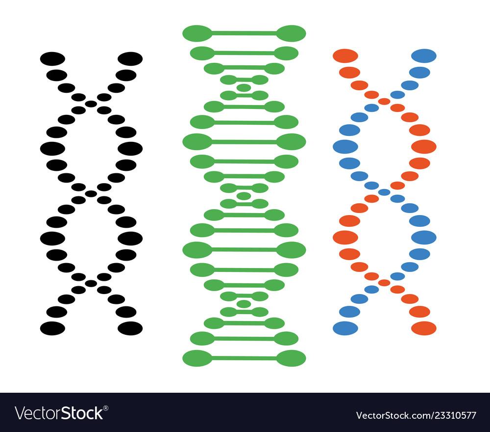 Dna different sets of spirals