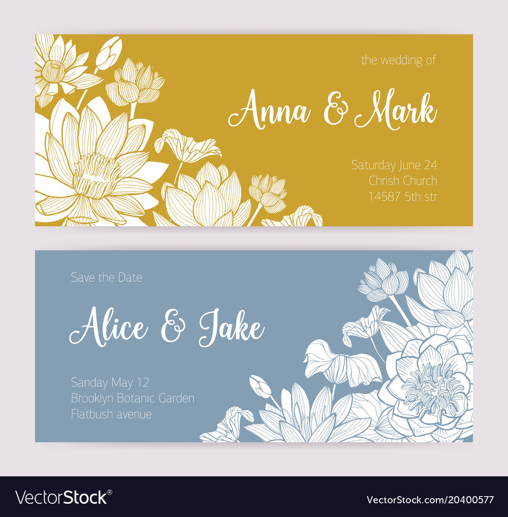 Elegant Wedding Invitation Or Save The Date Card