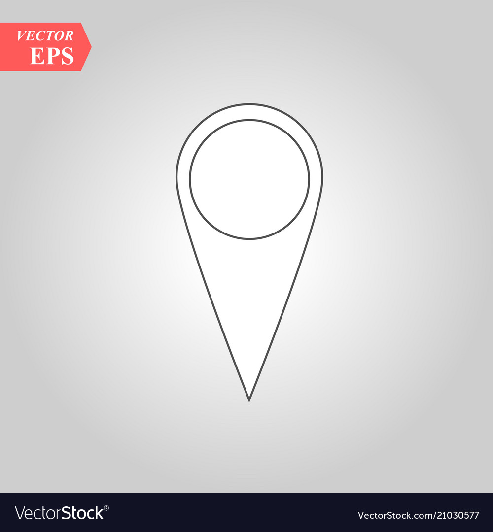Pin icon location sign isolated on white