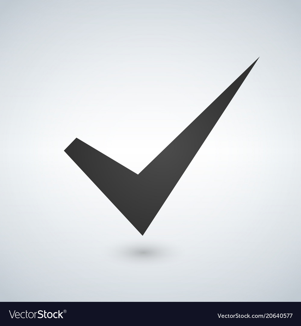 Tick sign element checkmark icon isolated on