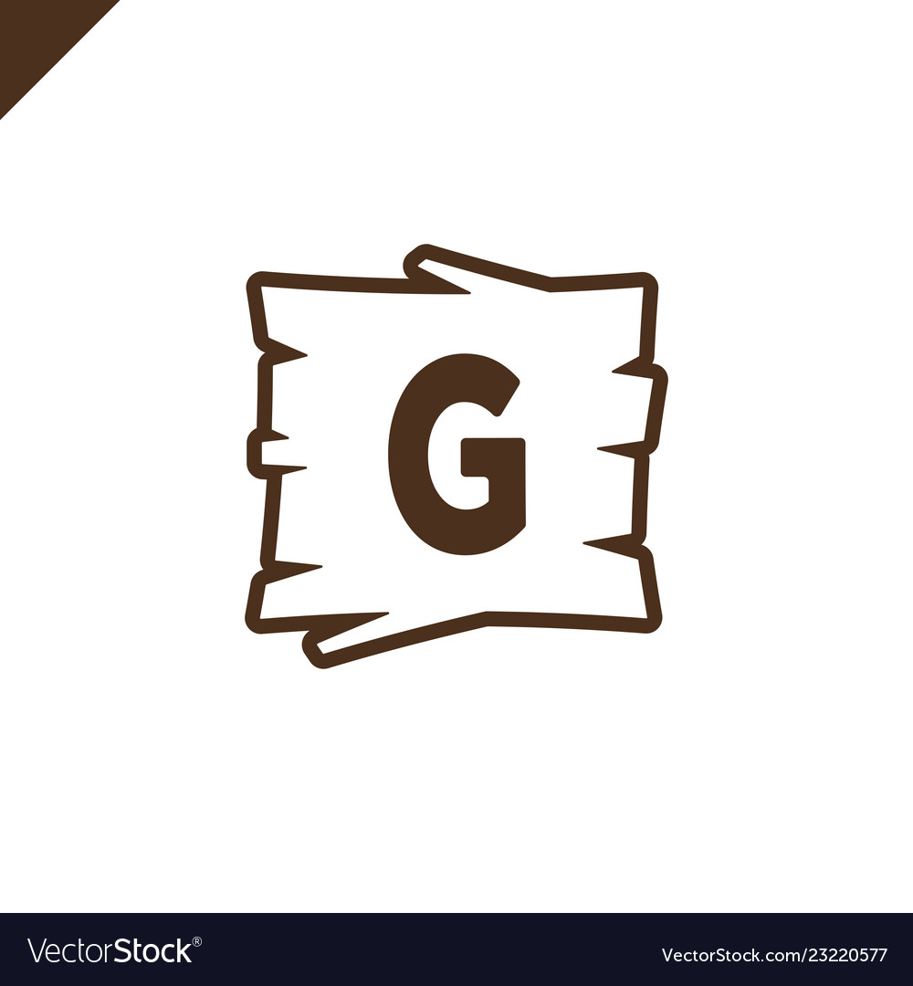 Wooden alphabet or font blocks with letter g