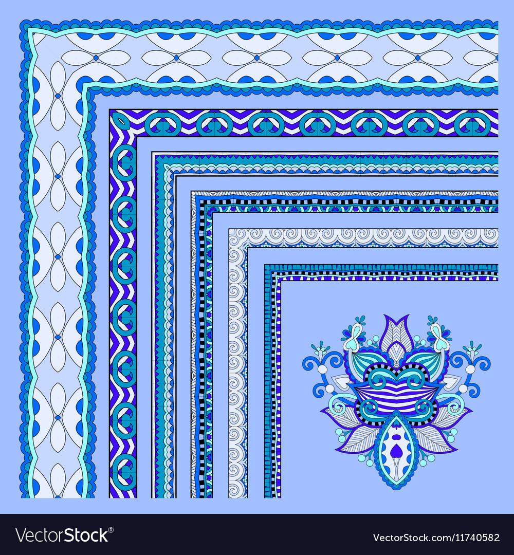 Blue floral vintage frame design