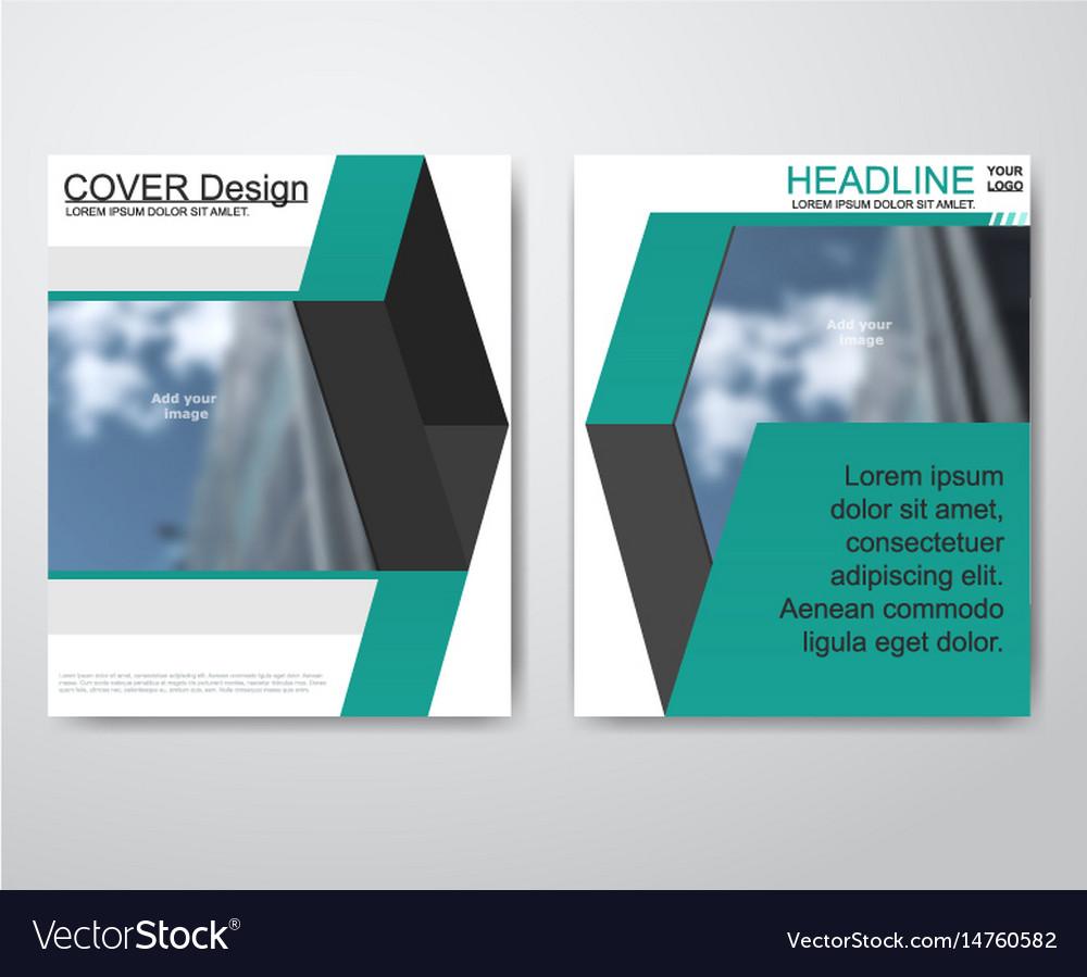 Business brochure flyer design layout template vector image