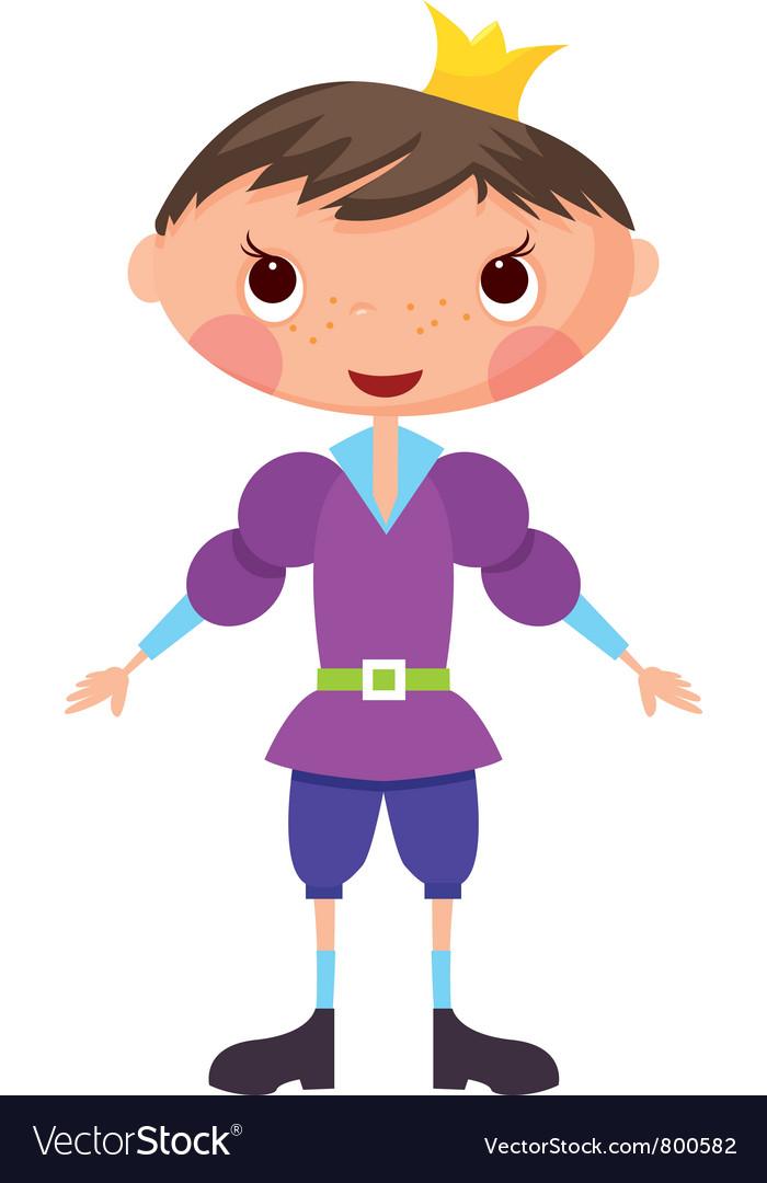 Cartoon prince vector image
