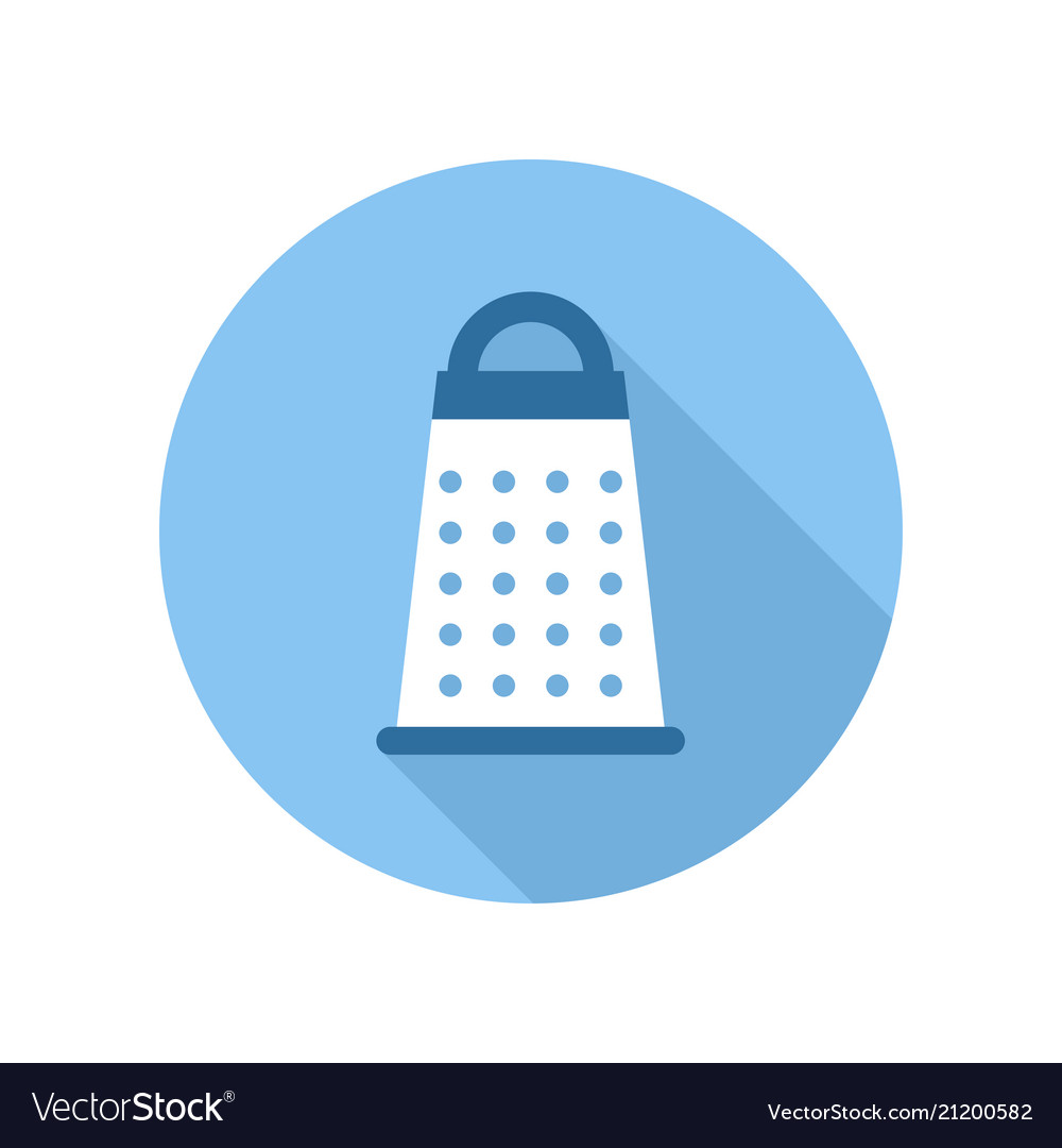 Cheese grater icon kitchen equipment sign and Vector Image