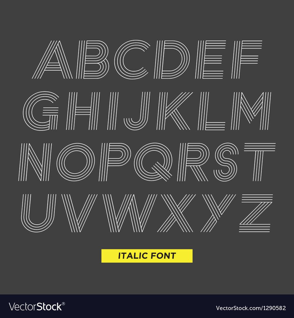 Font italic stripes