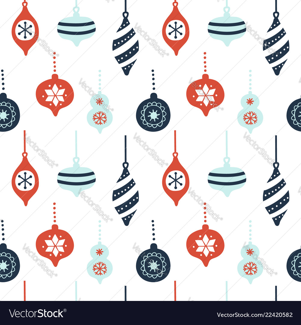 Hand drawn seamless pattern with cute christmas