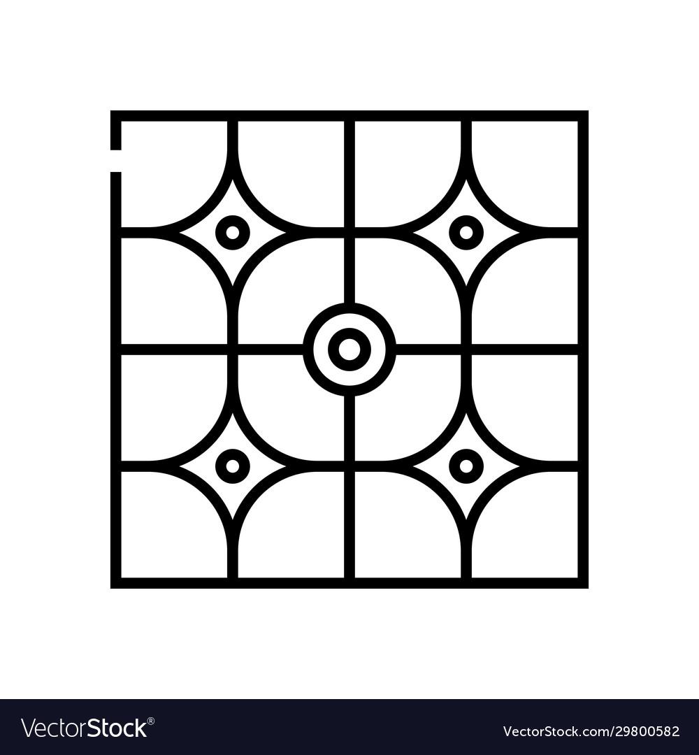 Paquet patterns line icon concept sign outline