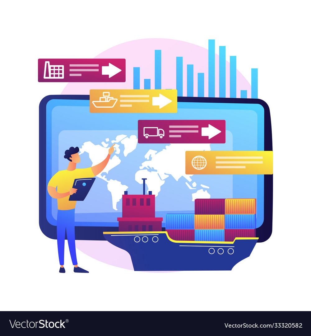 Supply chain analytics abstract concept