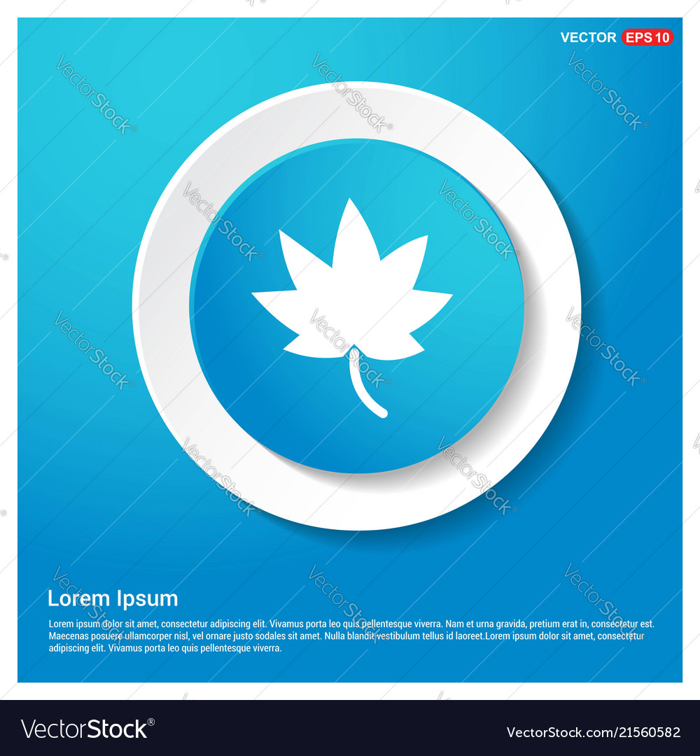 Tree icon abstract blue web sticker button