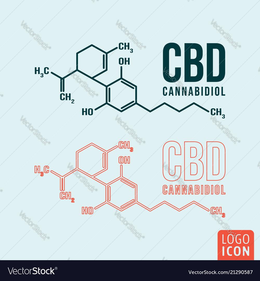 Cannabidiol formula symbol