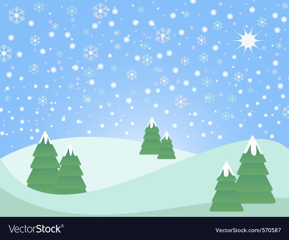 Christmas winter scene landscape