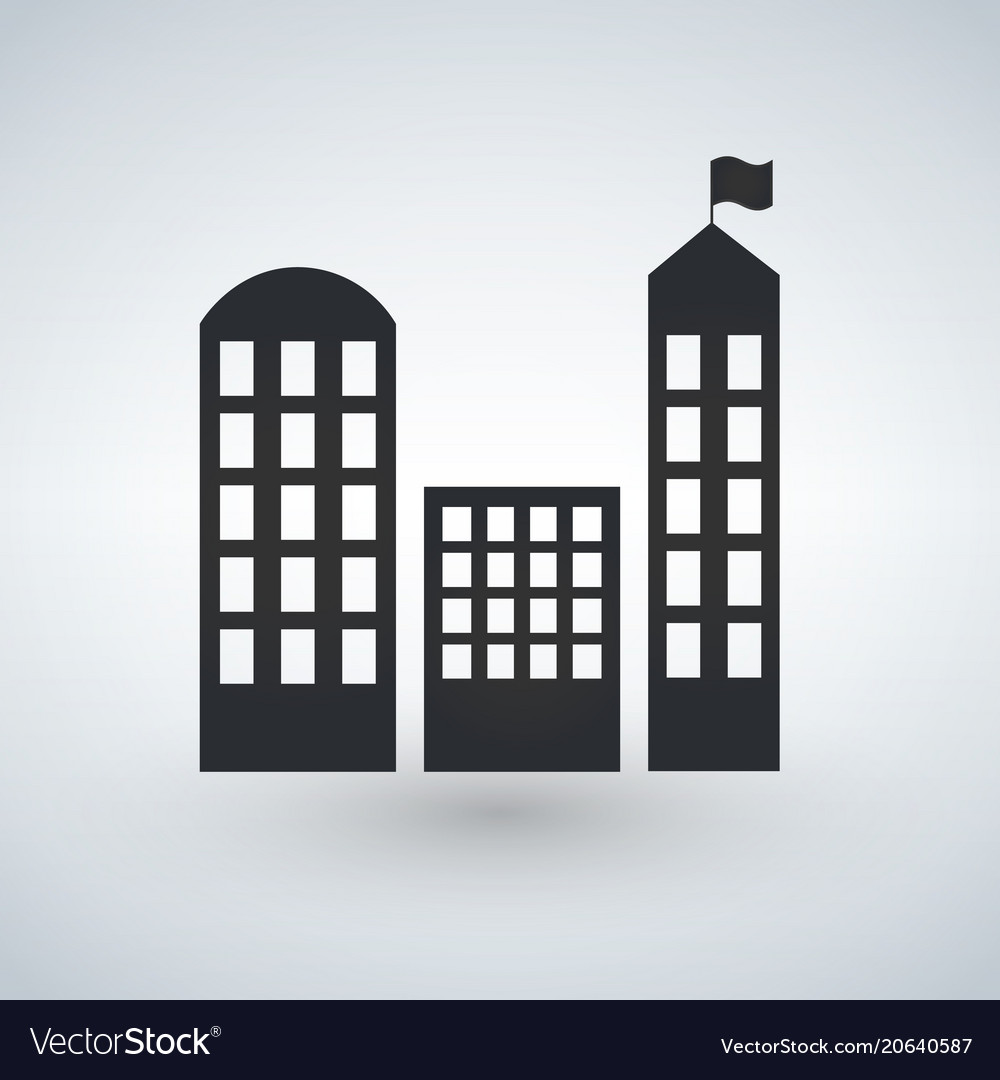 City buildings icon real estate symbol modern