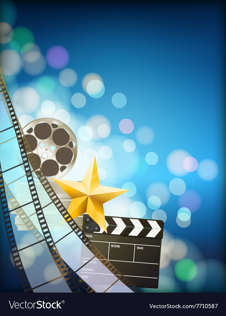 Filmstrip background vector image