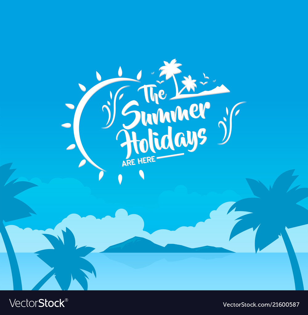Holidays background summer vacation travel beach p
