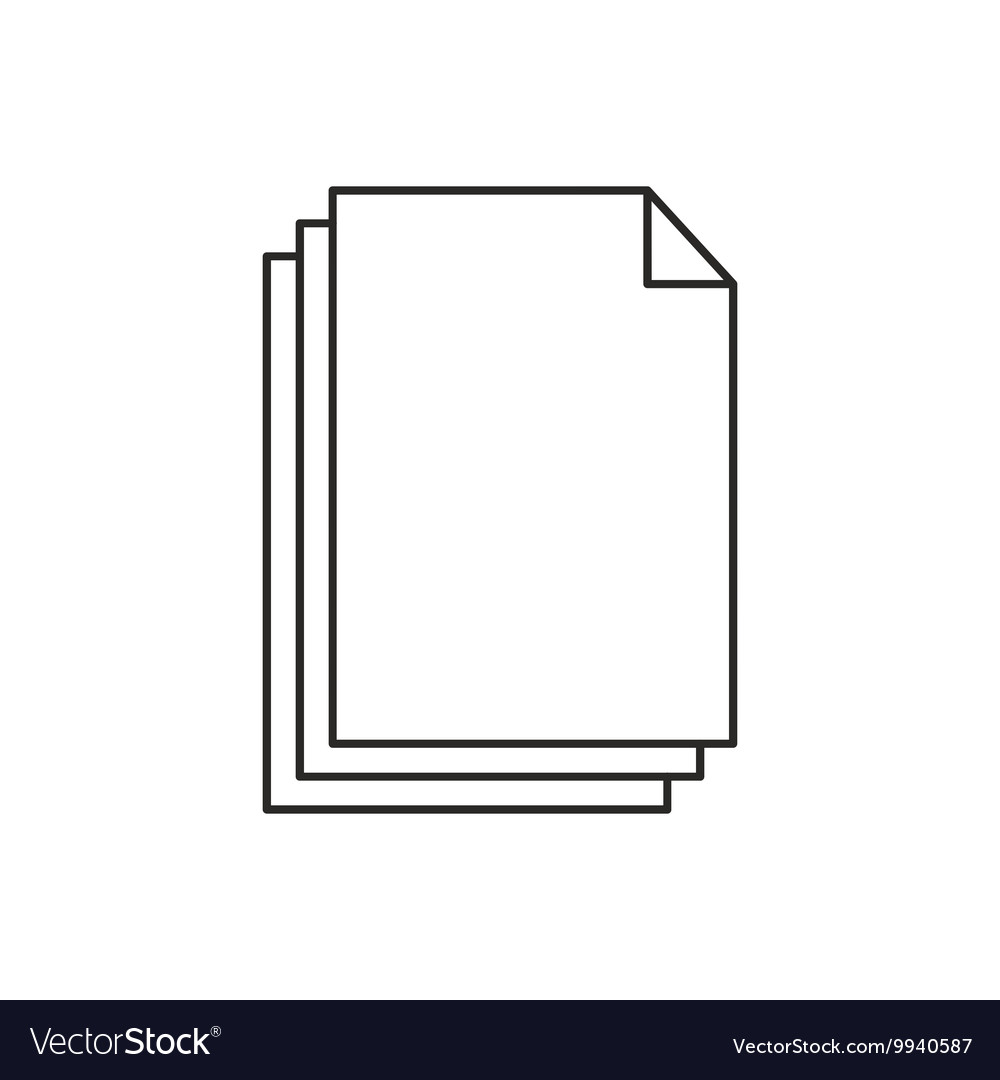 Outline document icon