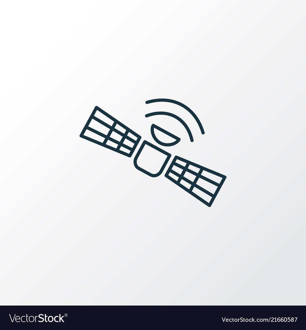 Satellite icon line symbol premium quality