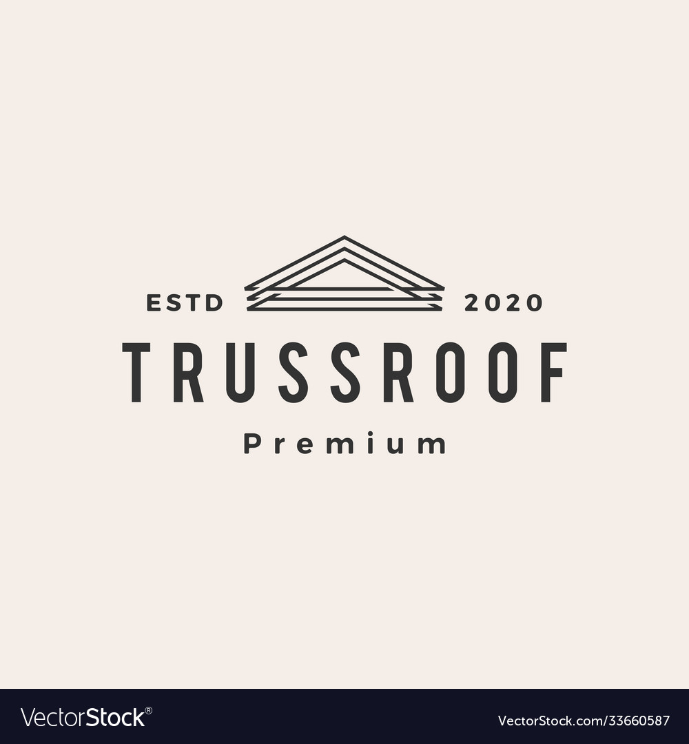 Truss rohouse hipster vintage logo icon