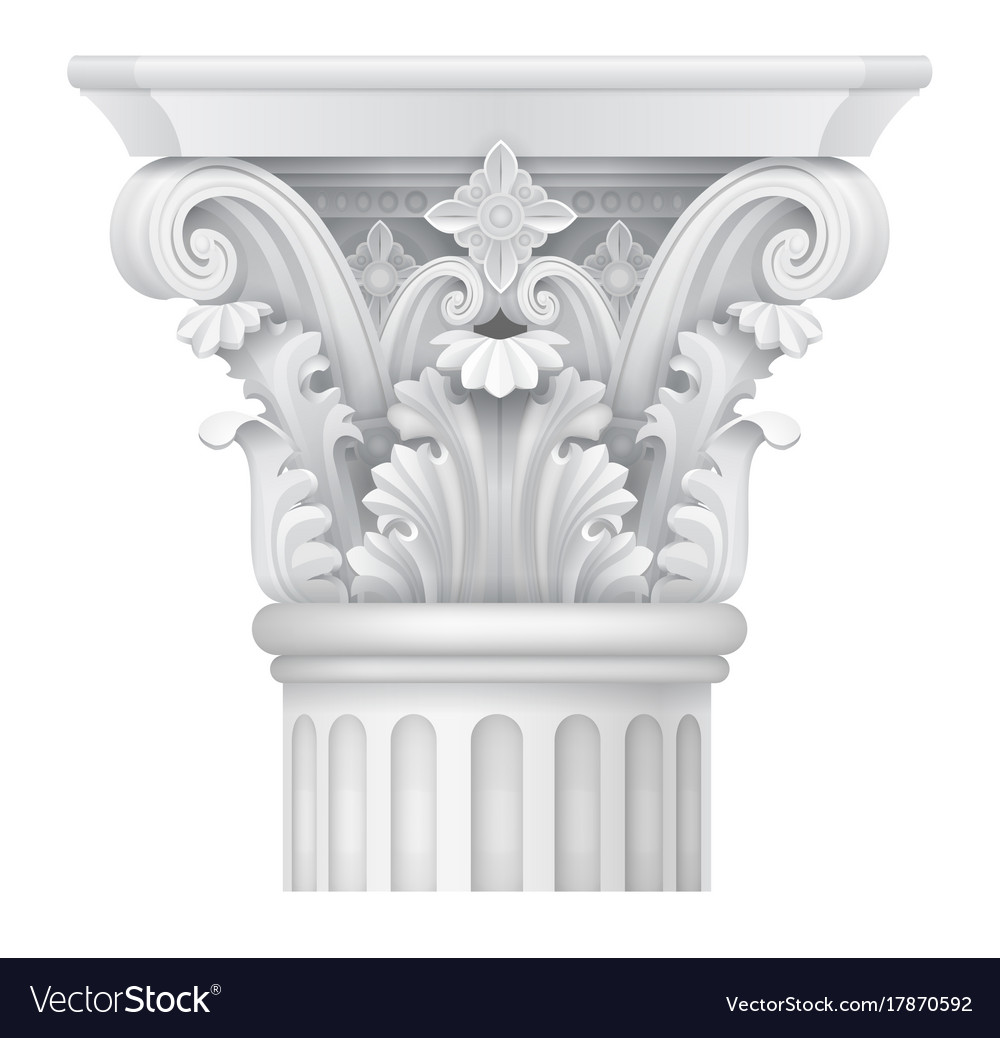 capital of corinthian column vector image