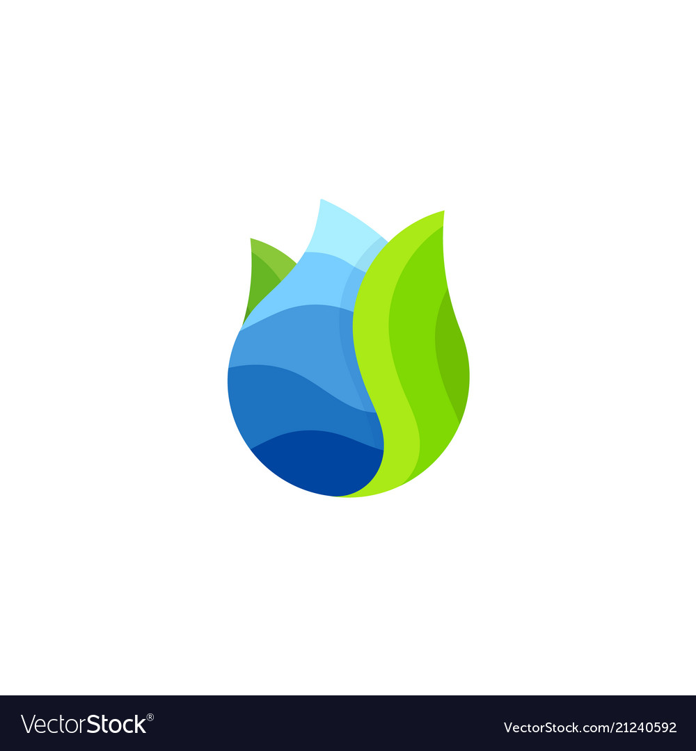 Drop logo water abstract icon sea wave