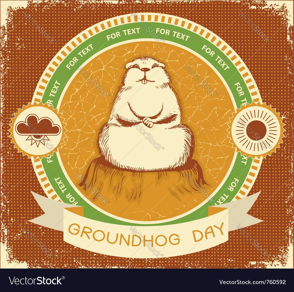 Groundhog day label