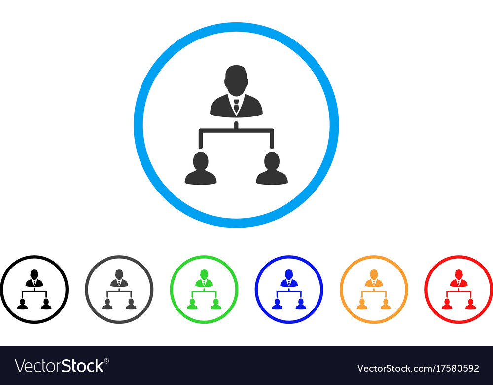 Human hierarchy rounded icon