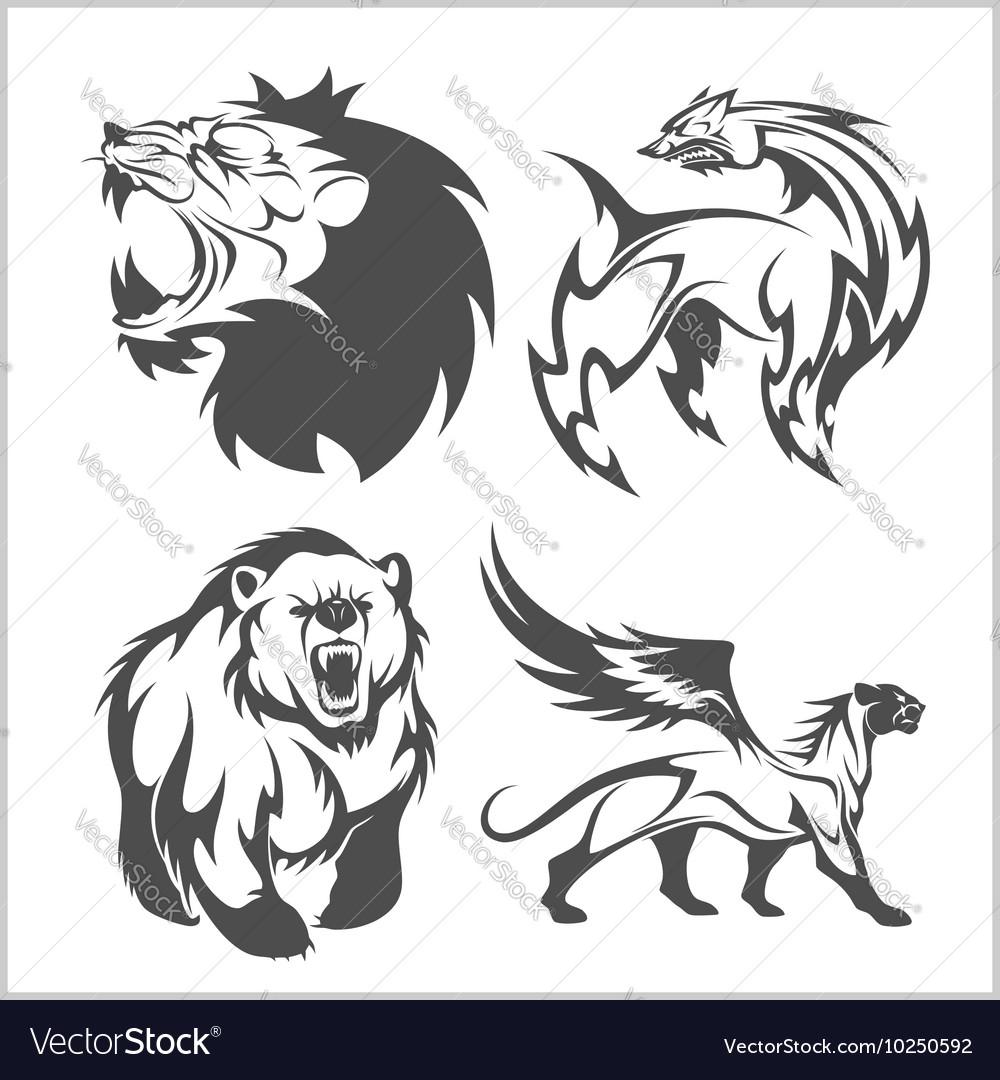 Lion head griffin fyl bear tattoos and designs