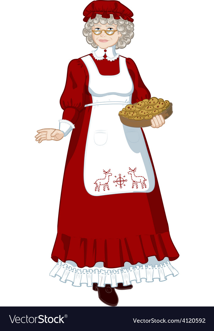 Mother Christmas Cartoon.Mrs Santa Claus Mother Christmas Character