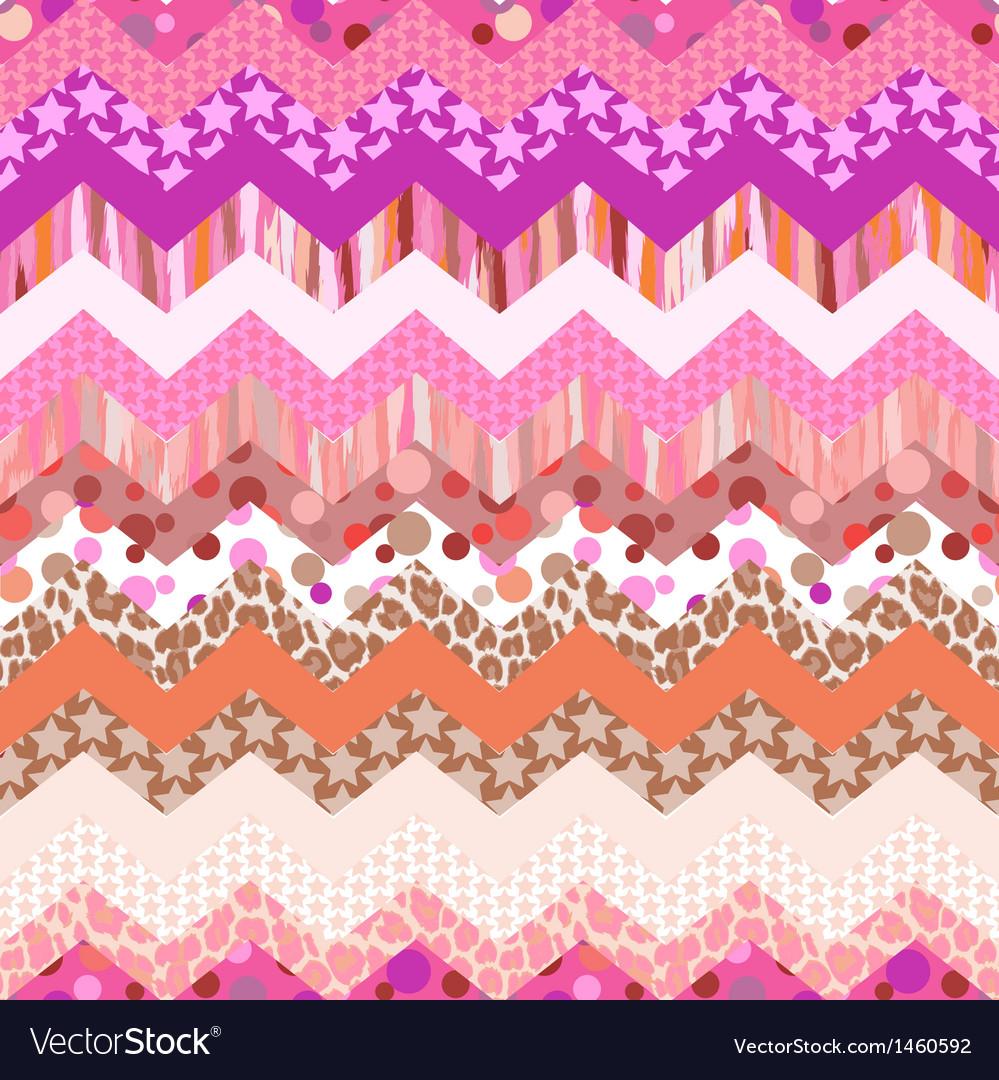Pink zigzag seamless vector image