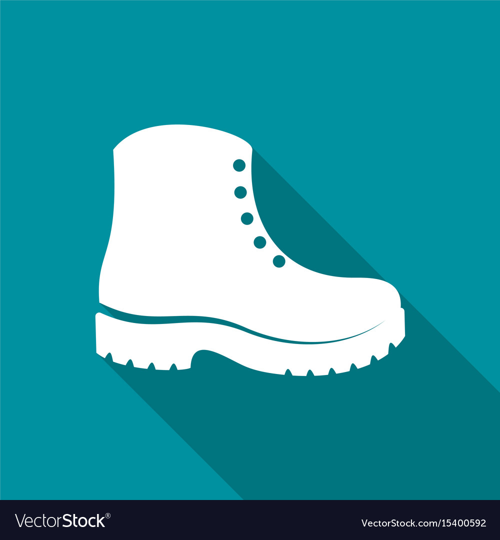 Simple white boots icon vector image