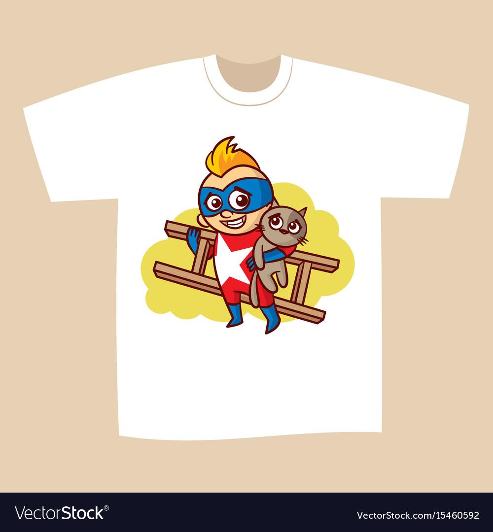 T-shirt print design superhero