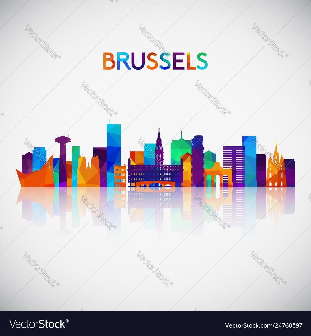 Brussels skyline silhouette